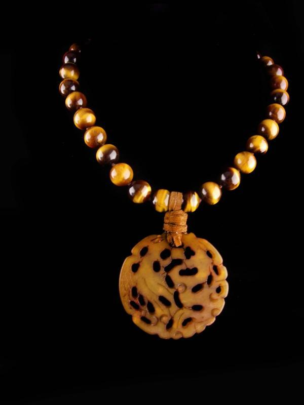 sterling TigerEye necklace - 18