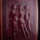 Vintage Three Graces album - genuine leather - greek nudes - peruzzi florenza - original case - 50 acid free photo pages - Greek goddesses