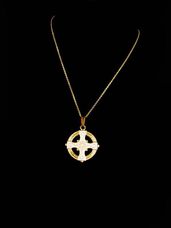 Vintage Celtic Cross - religious necklace - Celtic wedding - irish necklace - gift for her - friendship gift