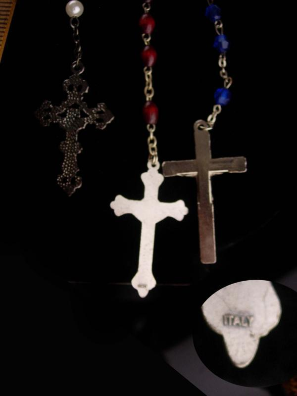 Vintage Rosary LOT - 4 crosses - crucifix lot - gift of faith - religious necklace - catholic crucifix - religious gift