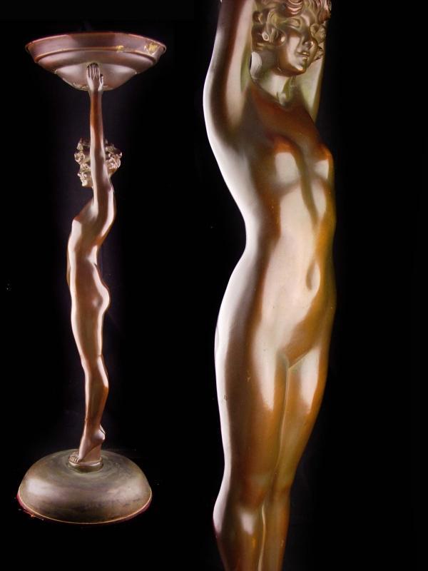 Erotic art deco statue / Large 26