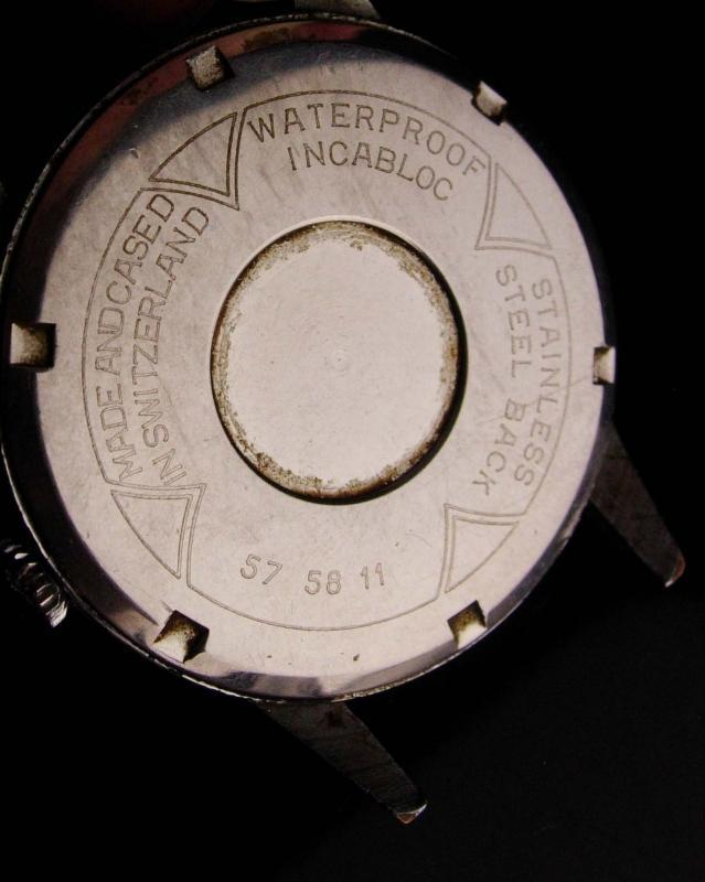 Vintage Alpha Swiss wristwatch - 17 Jewels - waterproof - vintage mens watch - manual Wind - 24 hour watch - military watch - runs great -