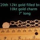 Vintage gold filled Bracelet - 10kt gold charm - New England Telephone and Telegraph Company - retirement gift