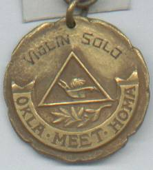 Comemorative Medal/Violin Solo/1923/Okla.