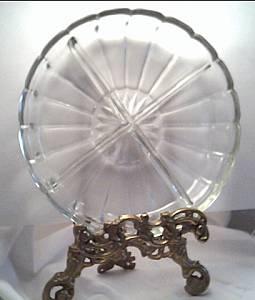Glass/Circa 1950 Round/Relish Tray(plate), Small