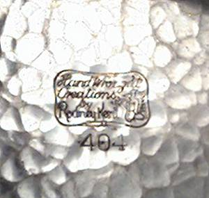 Alluminum Ware/Rodney Kent/Tulip Dish W/Floral Handles