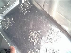 Alluminum Ware/ Tray/Floral Design/Serving Tray