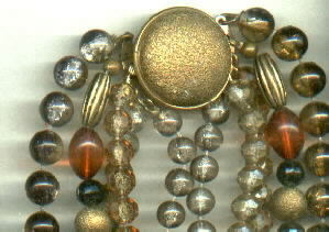 Necklace/Choker/Beaded/5 Strands/Autumn(Fall) Colors