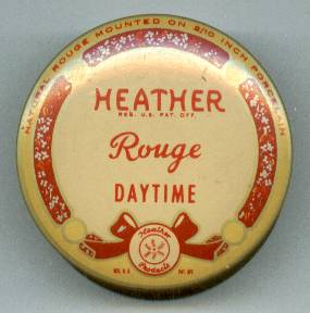 Vanity Item(s)/Rouge Pot/Heather/Lithographed Tin