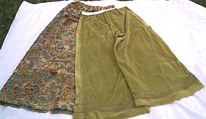 Clothing/Skirt & Palazzo Pants/Handmade/Vintage Fabric