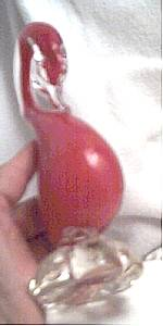 Household/ Blown Glass Figural/Red Cased Swan