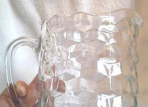 Glass/Whitehall's American Pattern Water Pitcher