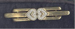Purse/Designer/Monet Black Evening Bag/ W/Goldtone Bar Pin/Brooch W/Faux Marcasite Hearts
