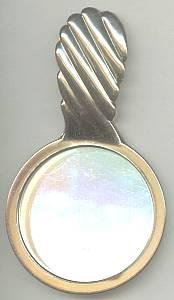 Vanity Item(s)/Purse Mirror/Estee Lauder Premium/Gold Molded Plastic