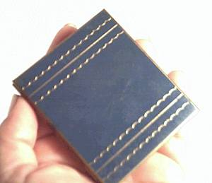 Vanity Item(s)/Goldtone/Blue Enameled Compact Style Picture Frame