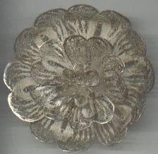 Brooch/900 Silver/Footspun Floral
