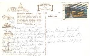 Ephemera/Postcard of The Washington Monument