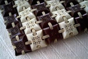 Purse/Clutch/Circa 1940's-Plastic Tile