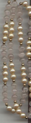 Necklace/Rose Quartz & Milk Glass Pearl