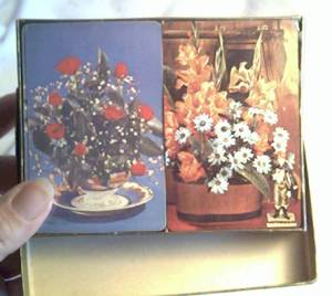 Card(s)/Playing/Double Boxed Set/Floral Graphics