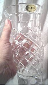 Vase/Crystal/BLOCK/Circa 1970's