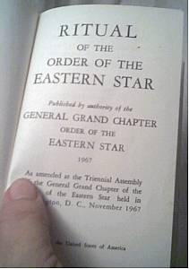 Fraternal/Ephemera/1967 Copy of  The Rituals of the Eastern Star