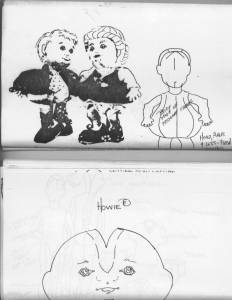 Ephemera/7-Patterns By Cloth Doll Artist Sandra M. Blake/Family Plus Whimsical Dolls