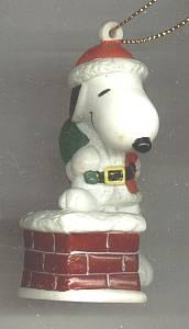 Christmas Ornament/Snoopy as Santa