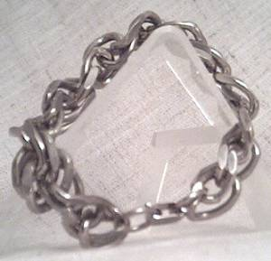 Bracelet/Curb Link/Silvertone