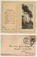 Ephemera/1921 Canal Zone Christmas Card & Original Stamped Envelope