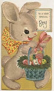 Ephemera/2 Wonderful Used Cards/1-Hallmark Mothers Day&1-Balloon? Greetings Boy-Easter Card