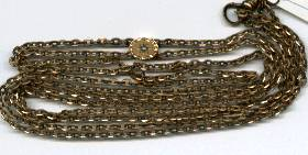 Long Chain/Gilded Brass Chain W/Gold & Seed
