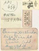 Ephemera/ V-Mail Letter & Cover Plus 2 pieces