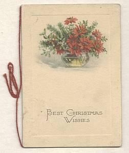 Ephemera/Small Christmas Card/Mark-Germany/Used
