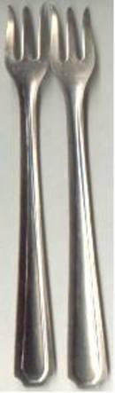 Metalware/Forks/6-Cocktail/Seafood/Unmarked
