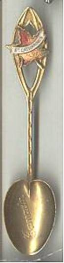 Collector Spoon(s)/Souvenir/Gold Colored Canada St. Catharines Souvenir Spoon