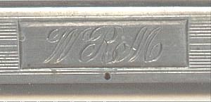 Vanity Item(s)/Webster Co. Sterling Comb Holder/Has Monogram WRM