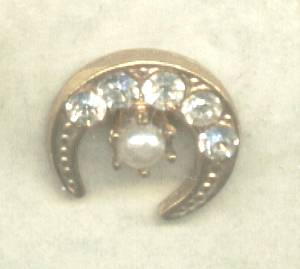 Tack Pin(s)/Lapel Pin GT Cresent With R/S and a Faux Pearl
