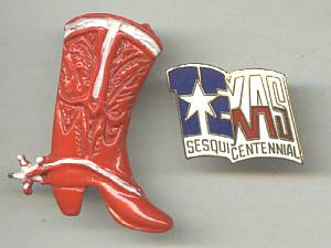 Tack Pin(s)/Lapel Pins Texas Sequicentennial & Enameled Cowboy Boot