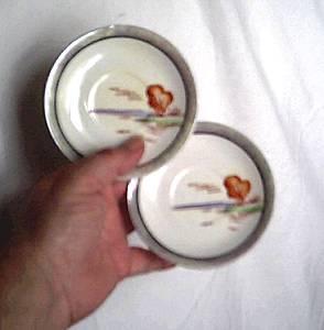Porcelain/China/2 Tiny Hand Painted Chikaramachi Plates