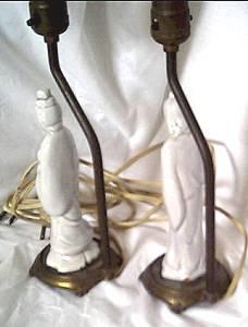 Lamp(s)/Pair Oriental Figural Dresser/Bedside Lamps