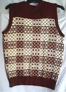 Clothing/Brown Patterned Acrylic Vest
