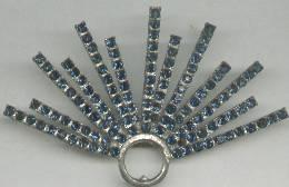 Hat Ornament/Sew On/Deco Era  Dark Blue R/S Half Starburst