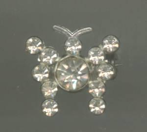 Brooch/Pin/ST W/Rhinestones/Butterfly