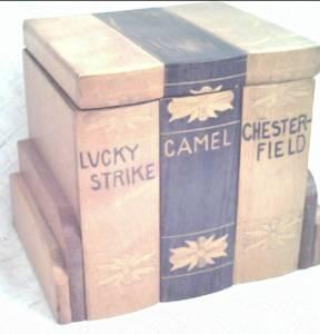Smoking Item/Wooden Cigarette Box/Holds 3 Short