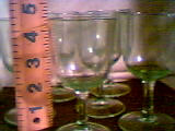 Glass/Set of 6 Small Stemed Glasses/Clear Lime