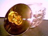 Vanity Item(s)/Glass Powder Jar W/Metal Lid W/Plastic(Circle) Knob