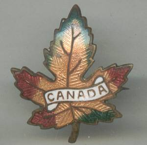 Souvenirs/Canada Enameled Leaf Pin