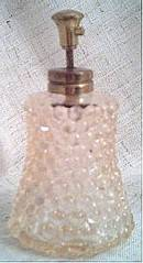 Perfume Bottle/Pump Spray/Clear Glass/Hobnail Design