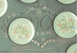 Avon/Mini Powder Tins On Artist Pallet/Green